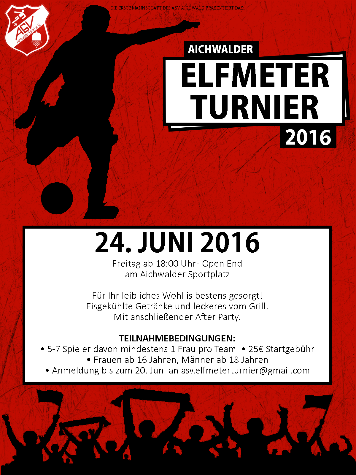 Elfmeterturnier Flyer 2016